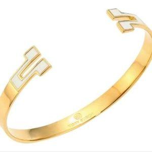 Tory Burch T Tunic Hinge Cuff Bracelet